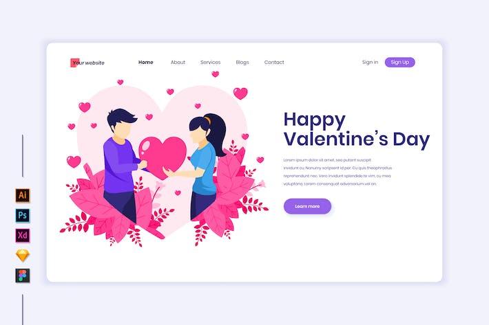 Thumbnail for Valentine's Day Flat Illustration - Agnytemp