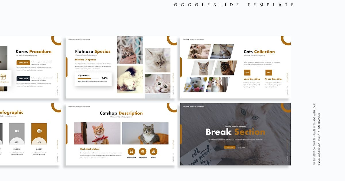 Download Cathouse - Google Slide Template by aqrstudio