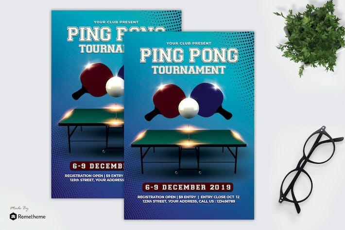 Thumbnail for Pingpong Tournament - Flyer MR
