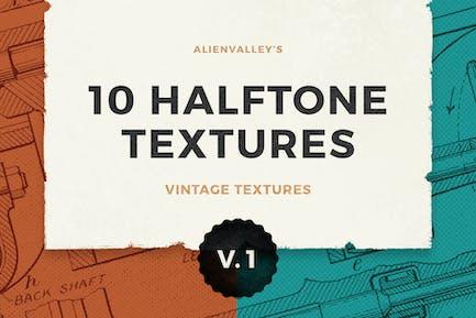 10 Halftone Texturen Band 1