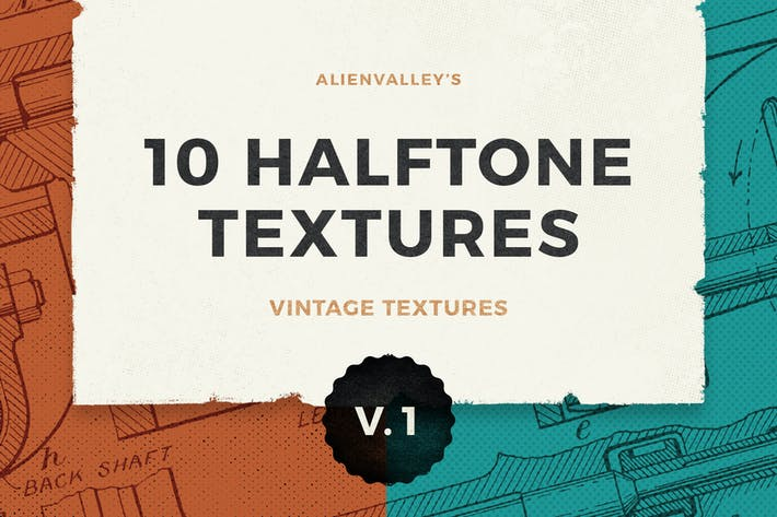 Thumbnail for 10 Halftone Textures Vol. 1