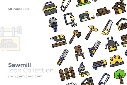Sawmill Filled Icon