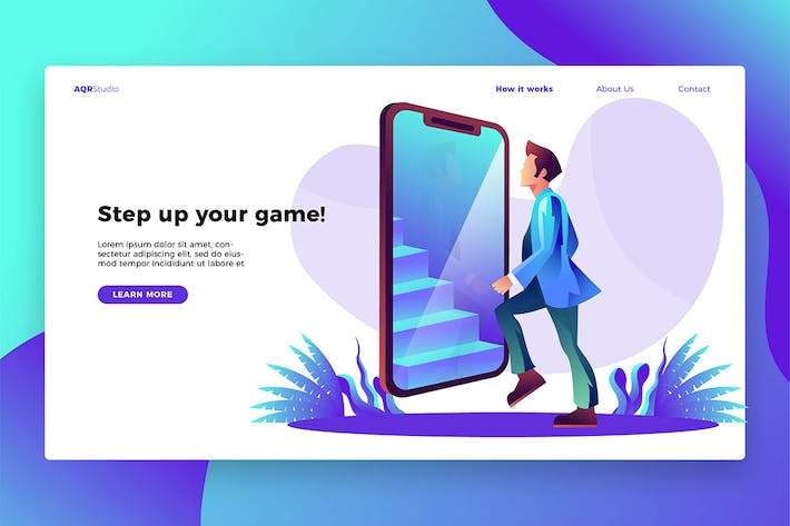 Thumbnail for Step up - Banner & Landing Page