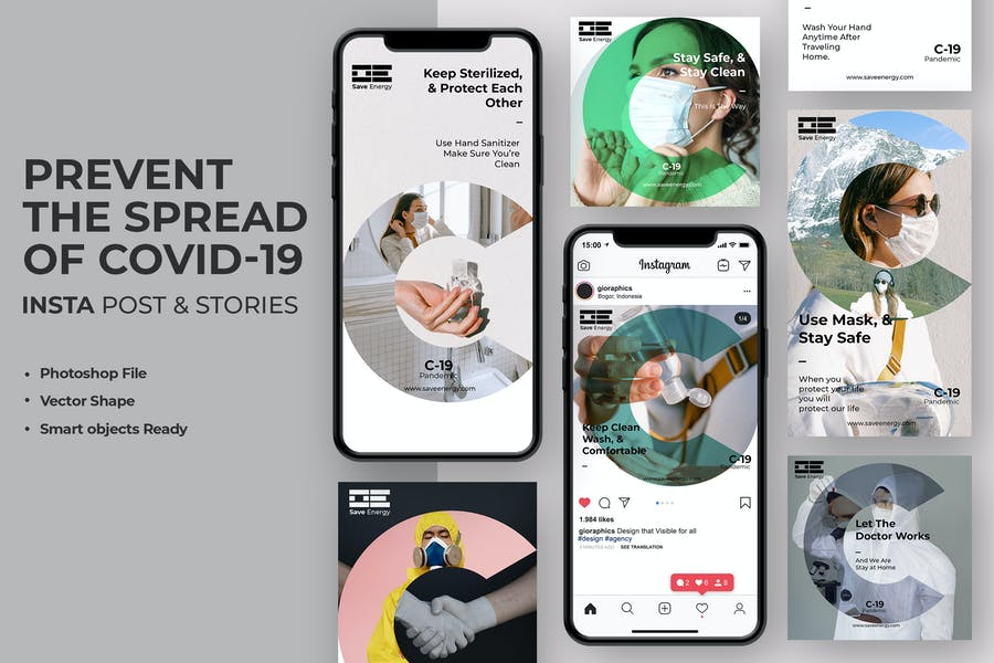 Corona Virus Covid-19 Instagram Stories & Post