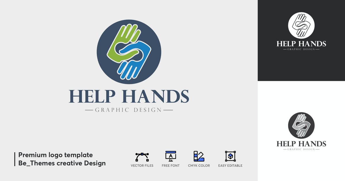 Download Help Hands Logo Template by Be_Themes