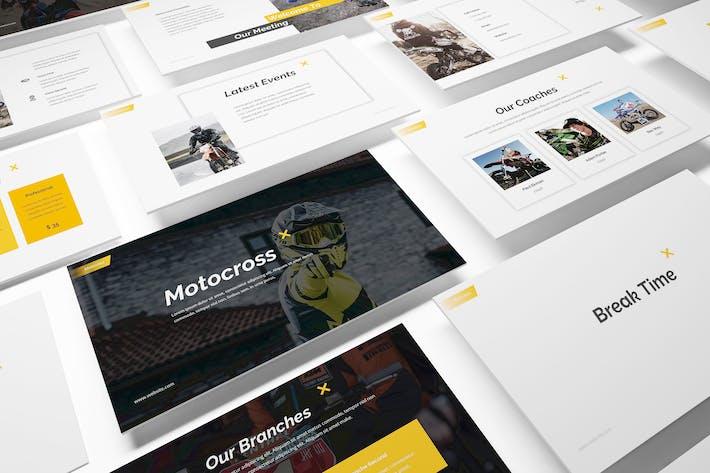 Thumbnail for Motocross Powerpoint Template