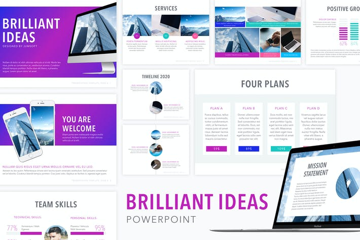 Thumbnail for Brilliant Ideas PowerPoint Template