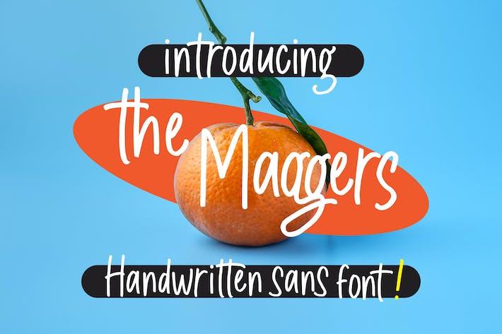 Thumbnail for The Maggers - Fuente Sans escrita a mano