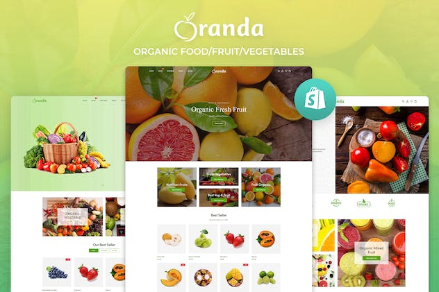Oranda - Organic Food/Fruit/Vegetables eCommerce