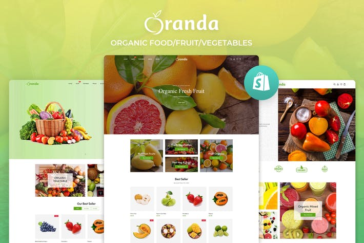 Thumbnail for Oranda - Organic Food/Fruit/Vegetables eCommerce