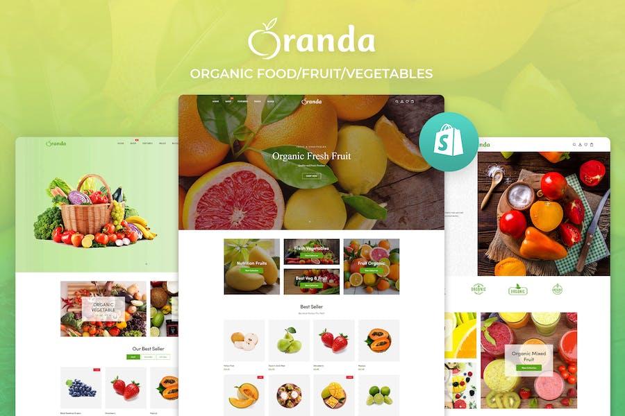 Oranda - Comercio electrónico Alimentos/Frutas/Verduras