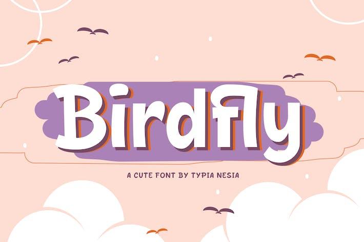 Thumbnail for Birdfly - police de fantaisie mignonne