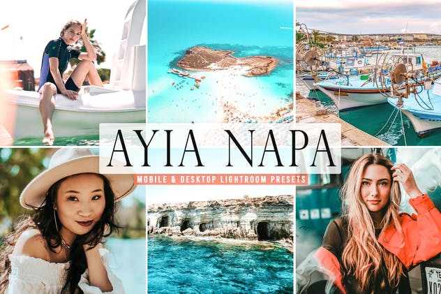 Ayia Napa Mobile & Desktop Lightroom Presets - product preview 5
