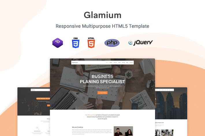 Thumbnail for Glamium - Responsive Multipurpose HTML5 Template