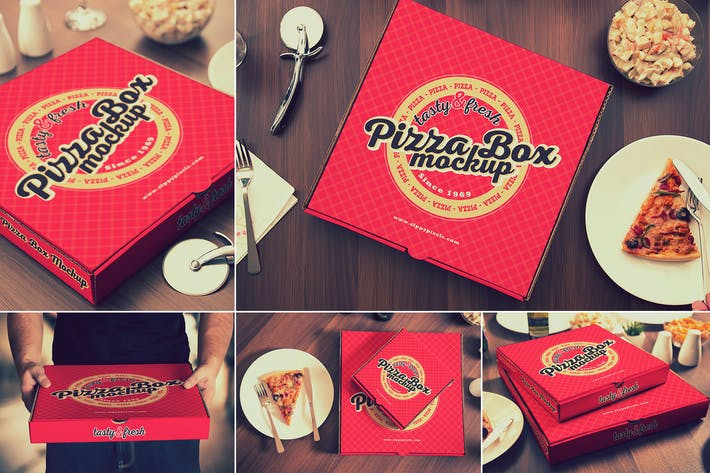 Thumbnail for Pizza Box Mockups