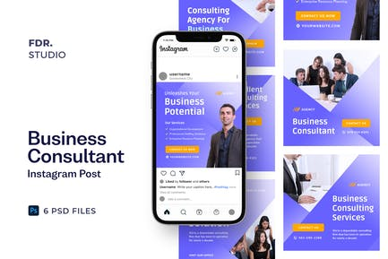 Business Consultant Social Media Ads Banner Templa