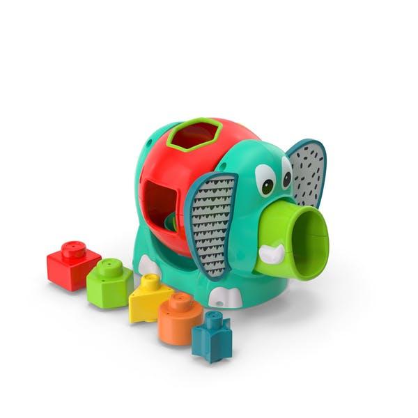 Thumbnail for Jumbo Elephant Shape Sorter Toy