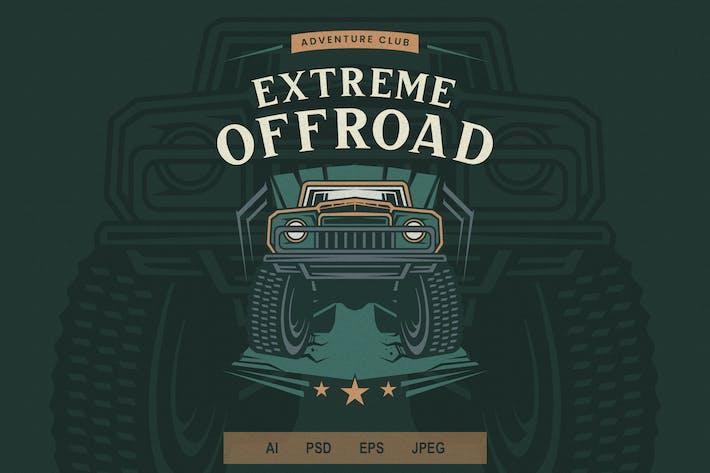 Thumbnail for Vintage Emblem - Offroad V4