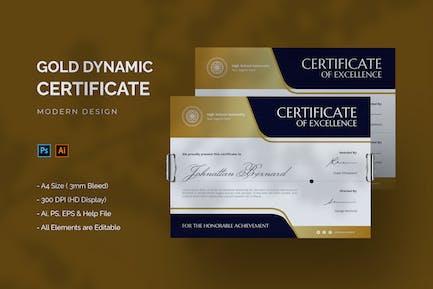 Gold Dynamic - Certificate