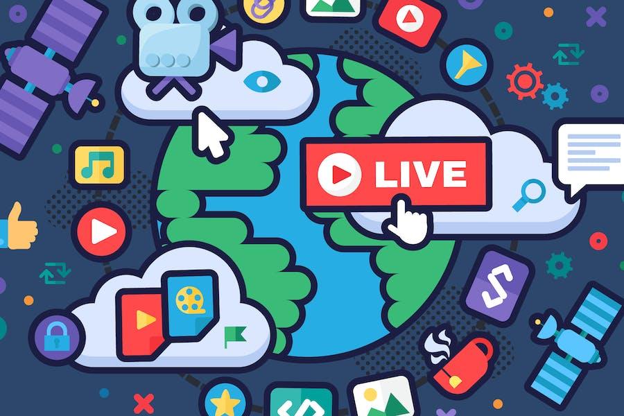Global News Live Stream Illustration