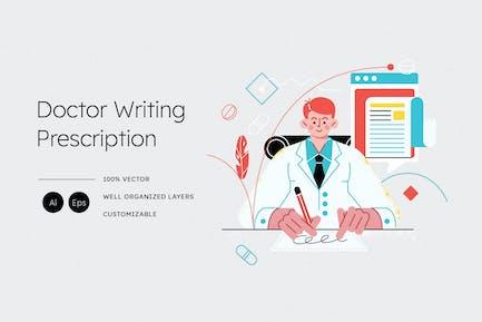 Ilustración de prescripción de escritura