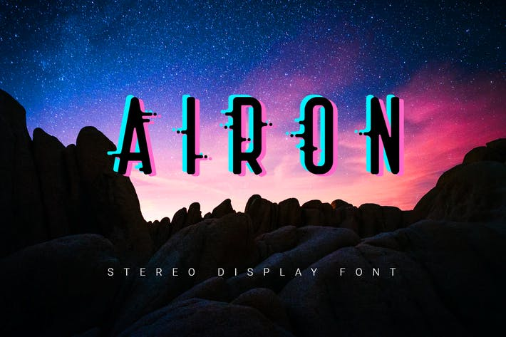 Airon| stereo effect font