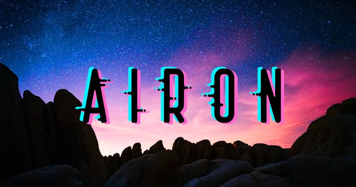 Download Airon| stereo effect font by wowomnom