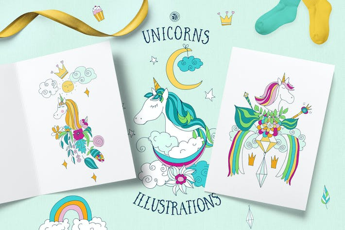 Thumbnail for Unicorns Illustrations