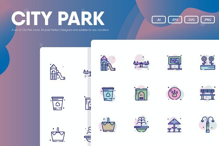 Thumbnail for City Park Icon Pack