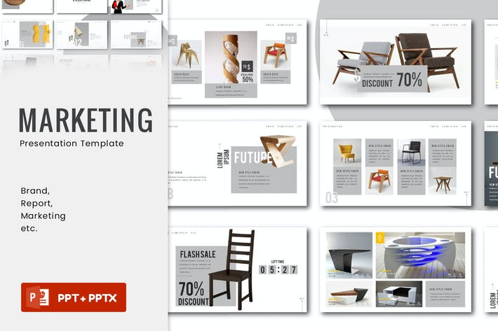 Thumbnail for Marketing Presentation Template - JJ