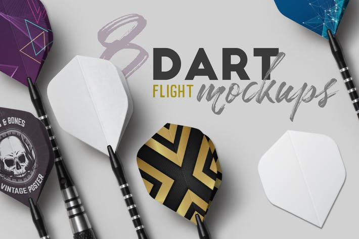 Thumbnail for Dart Flight Mockups
