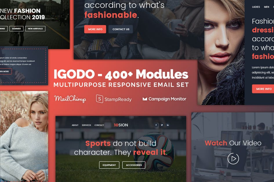 Download Igodo - Responsive Email with 400+ Modules by Psd2Newsletters