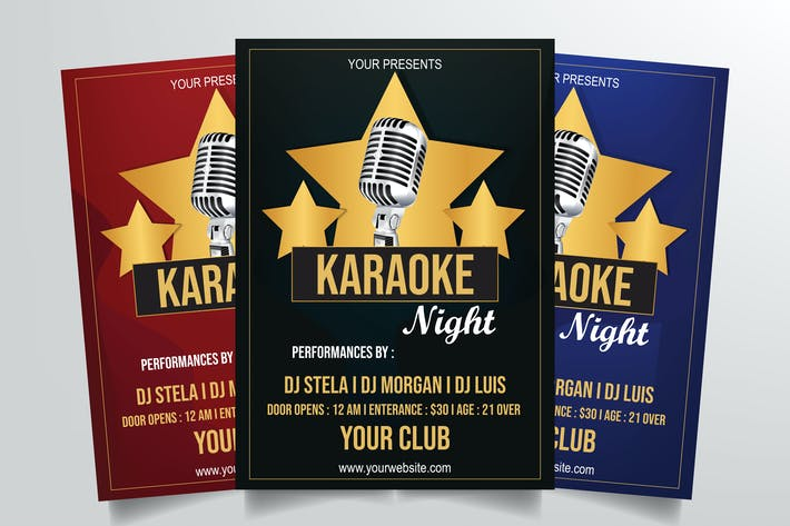 Thumbnail for Karaoke Night Flyer Template Vol. 1