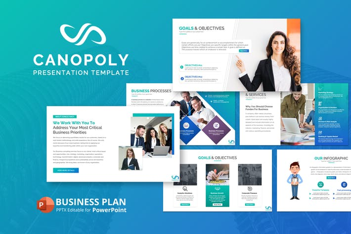Thumbnail for Canoply Business Plan Presentation Template