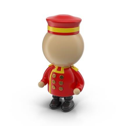 Cartoon Bellhop Character