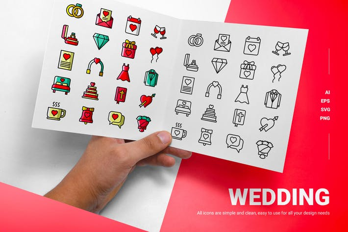 Hochzeit - Icons
