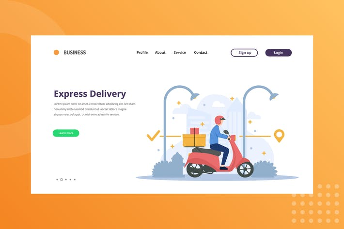 Thumbnail for Express Delivery Package Landing Page