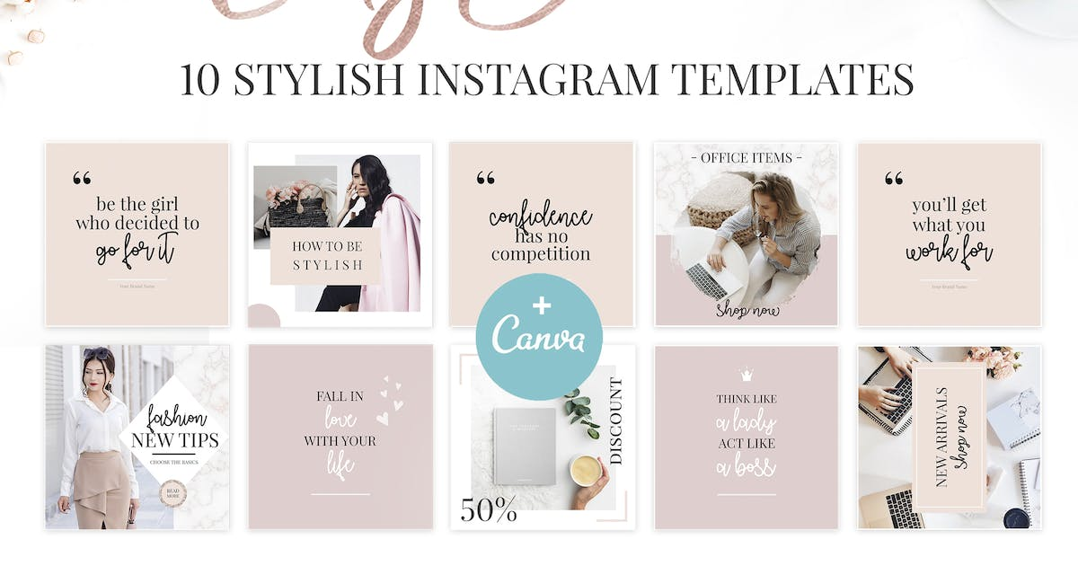 Download Canva Lady Boss Instagram Templates-2 by switzergirl