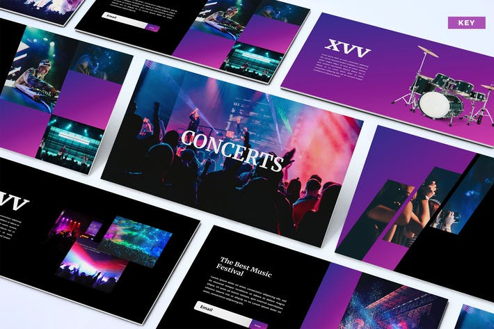 Thumbnail for Concerts - Keynote Template