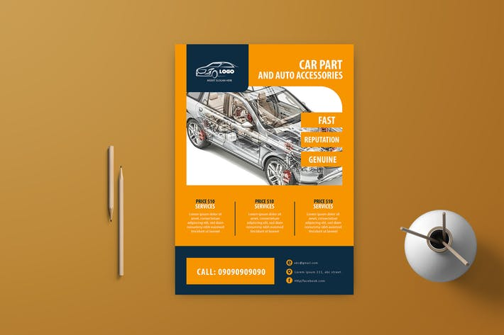 Thumbnail for Auto & Auto Reparatur Flyer Vol-9