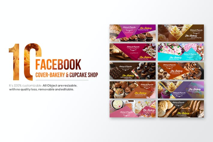Thumbnail for 10 Facebook Cover-Bakery and Cupcake Shop