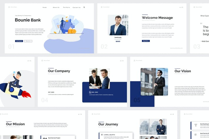 Thumbnail for Bounie Company Profile Powerpoint Template