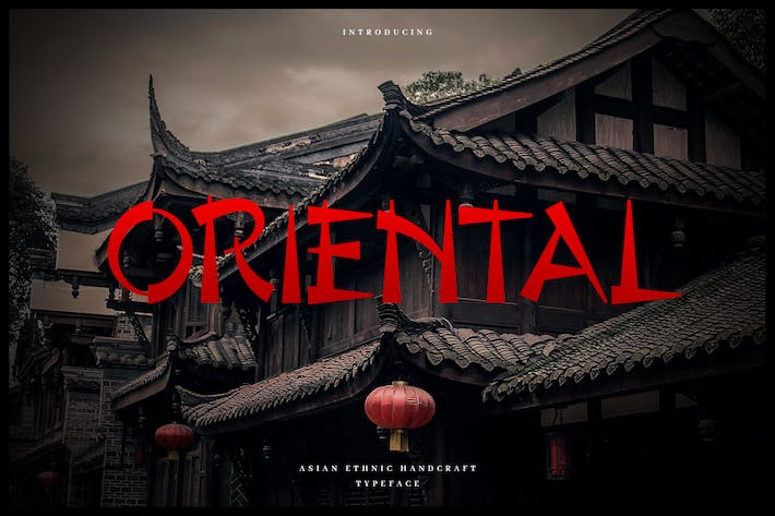 Cover Image For Oriental - Authentic Chinese Typeface