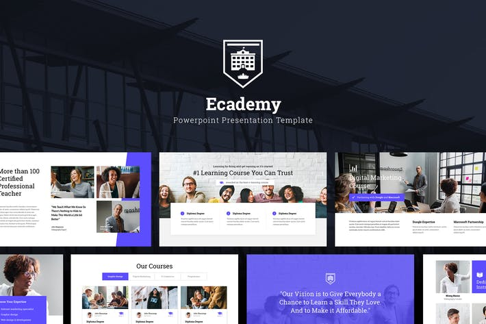 Thumbnail for Ecademy - Powerpoint Template