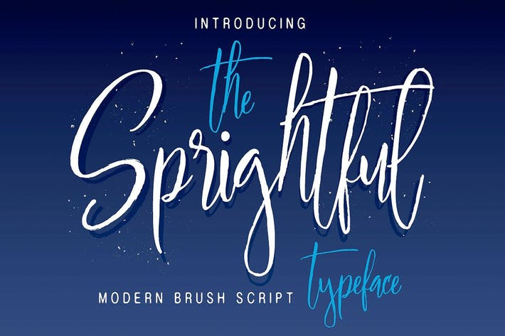 Thumbnail for Sprightful Typeface