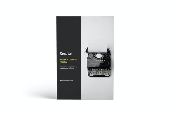 Cover Image For Creative Agency - A4 Portfolio Brochure