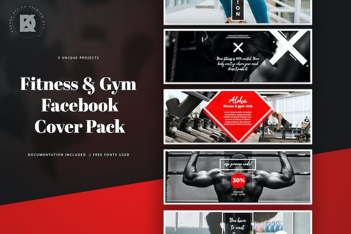 Thumbnail for Фитнес и тренажерный зал Facebook Обложка пакет