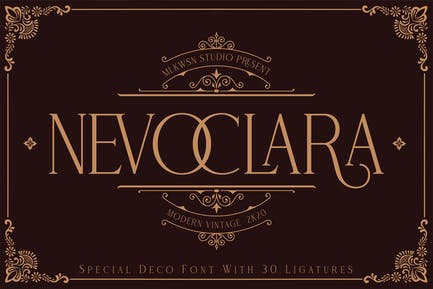 Nevoclara - Pantalla moderna vintage