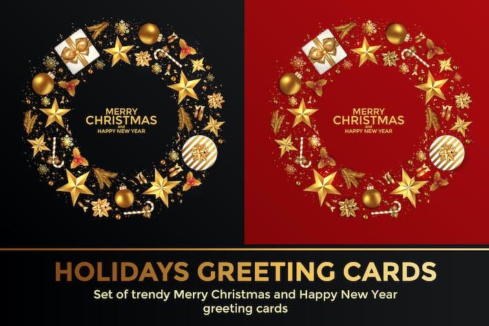 Thumbnail for Frohe Weihnachten und Frohes Neues Jahr Hintergründe