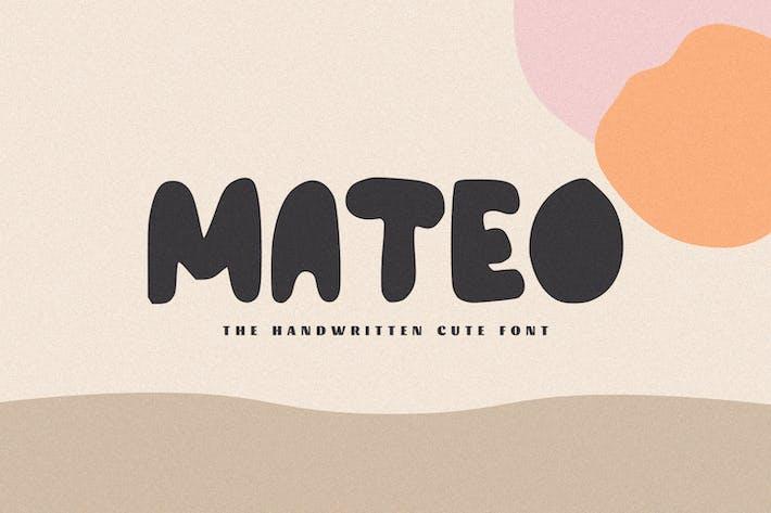 Thumbnail for Mateo - The Handwritten Cute Font